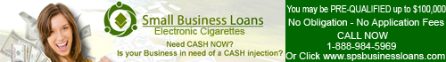 Small Business Loans Serving the Electronic Cigarette Community